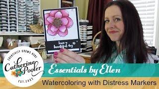 Watercoloring with Distress Markers Mondo Magnolia