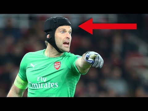Warum trägt Petr Cech einen Helm ?