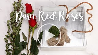 Pave arrangement of red roses