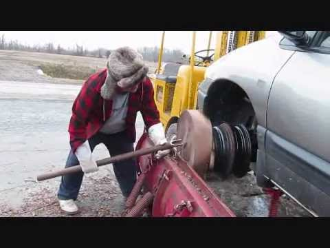 Crazy - DANGER DANGER Crazy Canadian turns a bowl on front end of a van http://www.stockroomsupply.ca/shop/products/