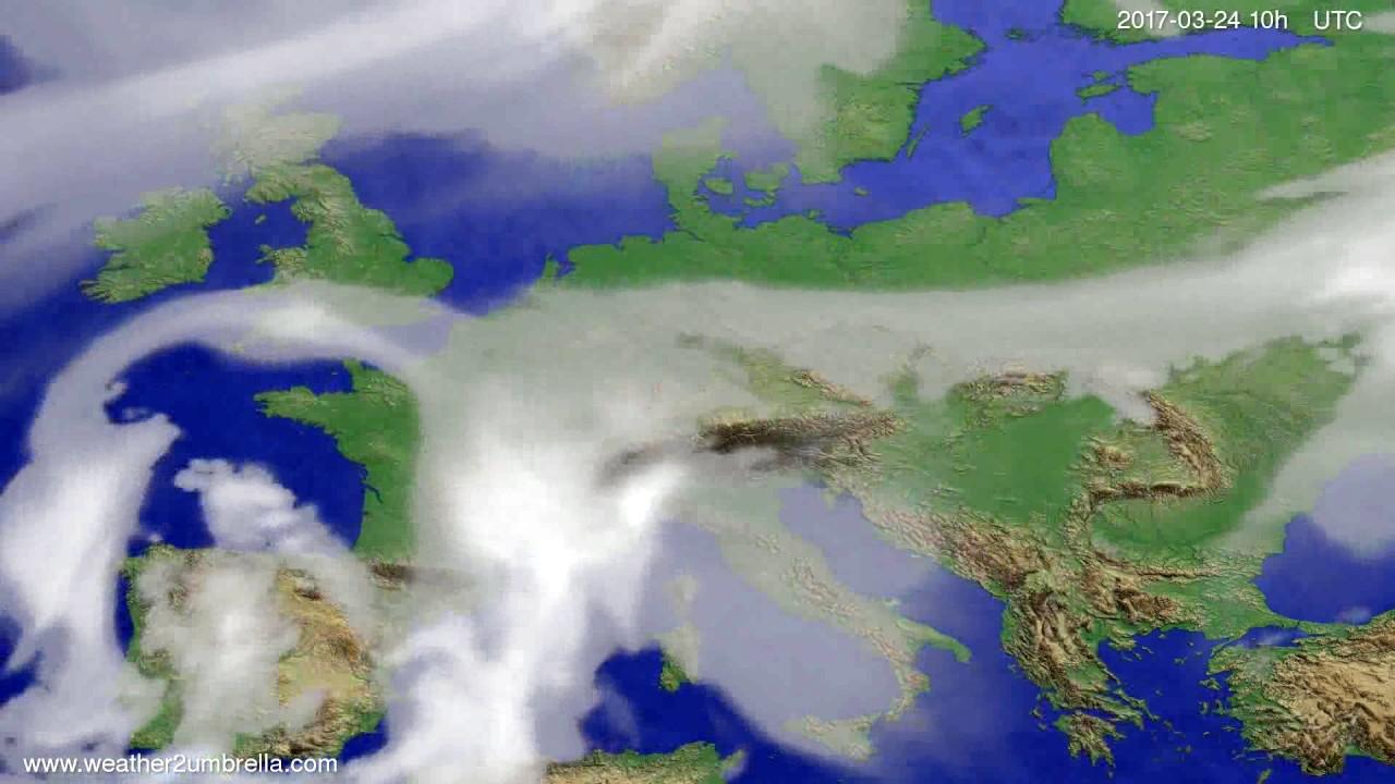 Cloud forecast Europe 2017-03-22