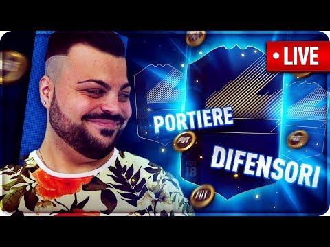 TOTY DIFENSORI E PORTIERI !!! PACK OPENING [FIFA 18 ] [ SPONSOR 70/100] LIVE 🔴