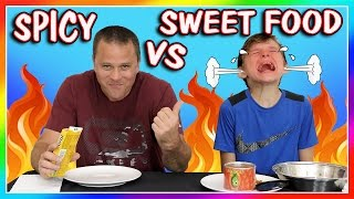 Video SUPER SPICY FOOD VS SWEET FOOD CHALLENGE | We Are The Davises MP3, 3GP, MP4, WEBM, AVI, FLV Maret 2019