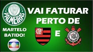 Saiba quanto o Palmeiras vai ganhar da Globo com o pay-per-view