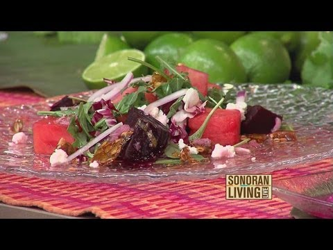 Executive Chef, Deborah Schneider of SOL Mexican Cocina prepares healthy dishes