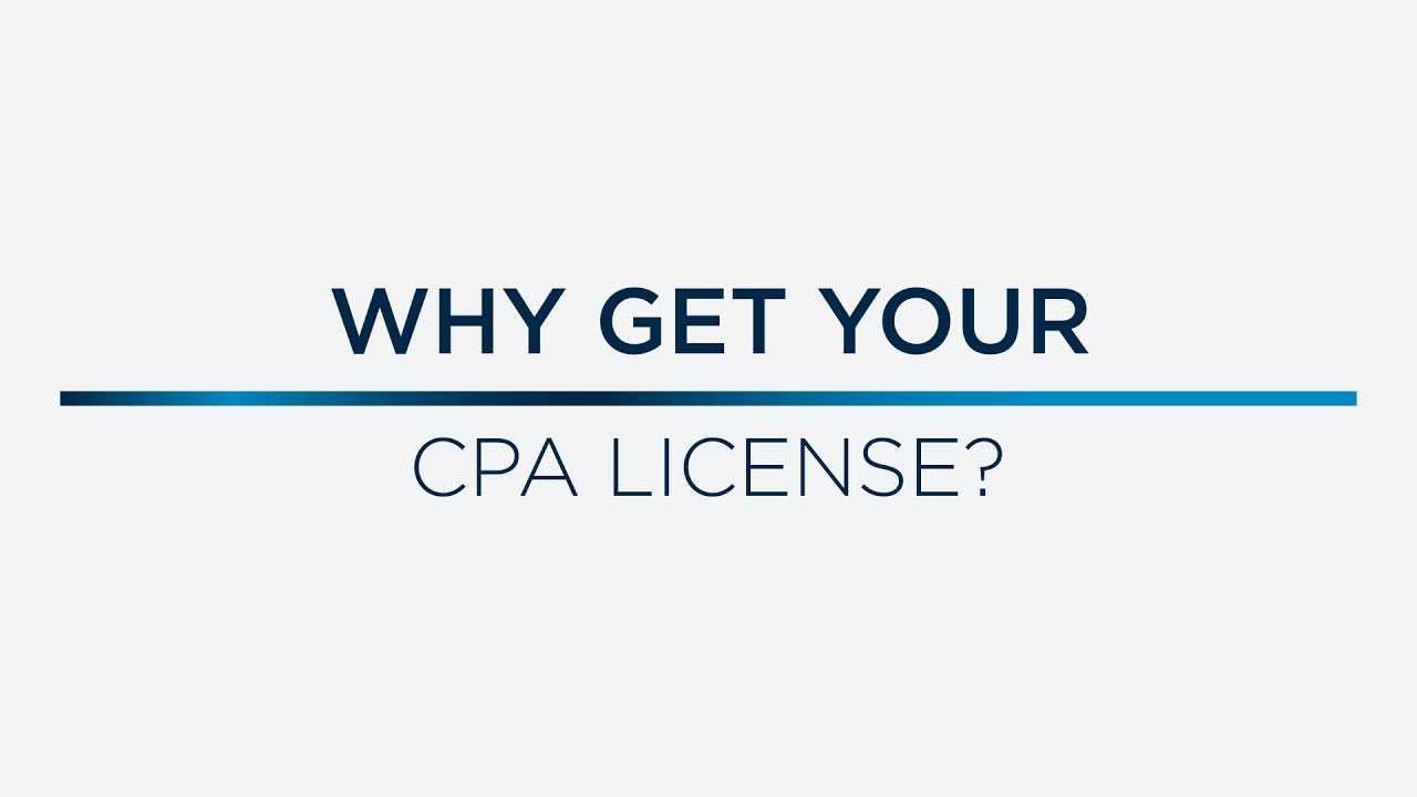 Why Get Your CPA License?