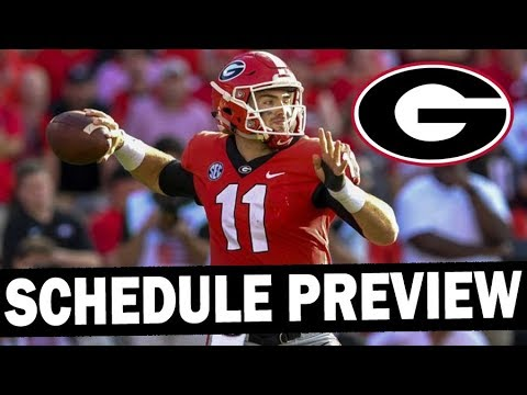 Georgia 2019 Schedule Preview - Projected Win Total