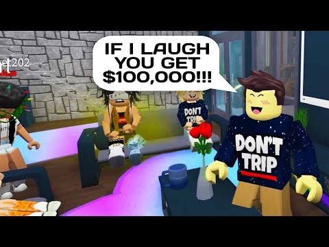IF YOU LAUGH YOU LOSE FOR $100,000 in Roblox Bloxburg!