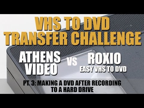 VHS to DVD Challenge Part 3: Making a DVD from VHS tapes recorded to a hard drive.