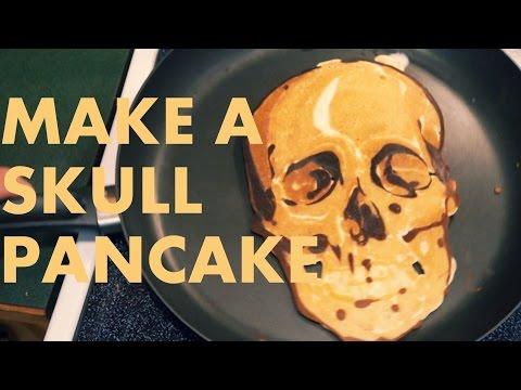 pancake art - il teschio