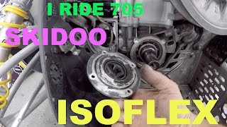 9. #55 How to Change Isoflex grease in skidoo xp crank bearing