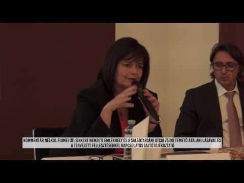 Fiumei úti nemzeti sírkert fejlesztésekkel kapcsolatos sajtótájékoztató