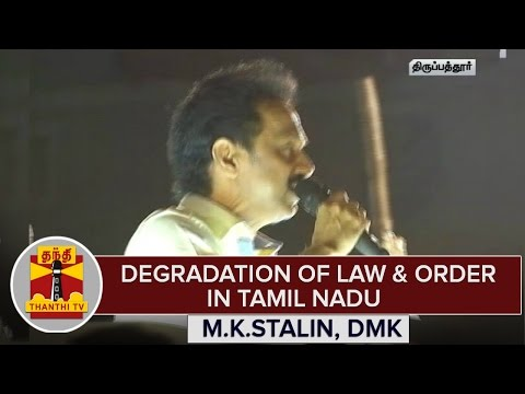 TN-Elections--Degradation-Of-Law-Order-In-Tamil-Nadu--M-K-Stalin-Accuses-AIADMK-Govt