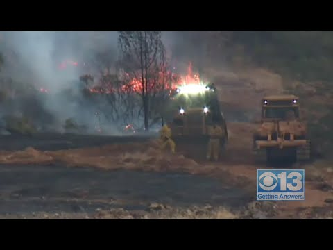 Raw: Fire Crews Keeping A Close Eye On The Camp Fire