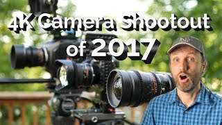 Last year I picked 4K cameras that I thought presented the most value, and then I compared them in my 4K Camera Shootout of 2016. This year, I'm back with the 2017 edition.More info: https://tomantosfilms.com/16022/4k-camera-shootout-2017/The three cameras featured in this video are:Sony a6500Panasonic GH5BlackMagic URSA Mini Pro 4.6KThe overall winner is the Panasonic GH5.I might do Part II of this video, since there are other interesting 4K cameras on the market, and it's likely we'll see new contenders before the end of the year. Please let me know which cameras you're interested in. Maybe Canon C200? Or the Panasonic AU-EVA1?Here's my review of the GH5 https://youtu.be/XkeIr_rvuLcHere's my review of the URSA Mini 4.6K https://youtu.be/sn_8T4_J278(the image quality of the Pro and this camera is the same; please watch here https://youtu.be/20Cc7dasNqo?t=2m16s to hear me talk about the main differences between the two models of the URSA Mini 4.6K)Here's my review of the Sony a6300 https://youtu.be/MYv1Wrohh_c(a6300 and a6500 have the same sensor, so the image quality is the same; a full review of the a6500 is coming soon).My 4K Camera Shootout of 2016 https://youtu.be/vrnqe93OJIUHere is where you can buy these cameras:Panasonic GH5 Camera BH Photo Video https://goo.gl/X3tMtIAdorama https://goo.gl/Ri91vIHenry's https://goo.gl/bBjm7feBay https://goo.gl/EyXfU4Amazon http://amzn.to/2qWzut8Amazon Canada http://amzn.to/2qWwjlwAmazon UK http://amzn.to/2uqrwxDAmazon Germany http://amzn.to/2qnP5pwBlackMagic URSA Mini 4.6K Pro on BH Photo Video https://goo.gl/9aW1FxAdorama https://goo.gl/BCHcXYHenry's https://goo.gl/KYCrCieBay https://goo.gl/SqMkXHAmazon http://amzn.to/2ulf7usAmazon Canada http://amzn.to/2eEbOZUAmazon UK http://amzn.to/2vwduZ8Amazon Germany http://amzn.to/2tzbfqOBlackMagic URSA Mini 4.6K on BlackMagic URSA Mini 4.6KBH Photo Video https://goo.gl/ExNL0pAdorama https://goo.gl/iloKeHAmazon http://amzn.to/2dA6FgfAmazon Canada http://amzn.to/2ult5fAAmazon UK http: