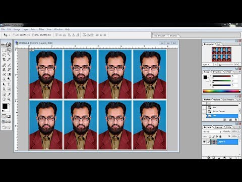 How to make passport size photo in Photoshop in hindi/urdu | Adobe Photoshop 7.0