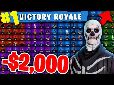 I LOST MY SKULL TROOPER & $2000 WORTH OF SKINS ON FORTNITE!!!