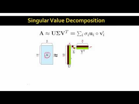 Lecture 47 — Singular Value Decomposition | Stanford University