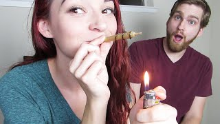 SMOKING A HALF GRAM OF WAX AROUND A JOINT! (TWAX) by HaleyIsSoarx