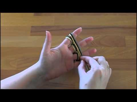 Schlauchschal mit den Fingern stricken – Türchen 13