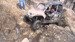 11. Kawasaki Teryx vs Polaris 800 RZR and 900 XP on Devils Elbow in Windrock