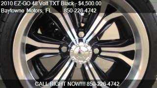 4. 2010 EZ-GO 48 Volt TXT Black Tan Seats - for sale in Ft Walt