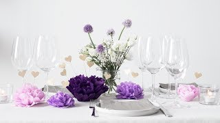 """Anna is setting the table for one of the summers' enchanting parties with elegant paper flowers, golden hearts and romance. Have a peek and be inspired by Anna's table decorations.You can find more creative ideas here: http://sostrenegrene.com/diy-corner/ Find the products from the video in your local Søstrene Grene shop.Remember to press the """"thumbs up"""" button and tell all your friends about this simple, but creative way of making gifts for your friends. You can also subscribe to our channel for notifications on Anna's DIY videos on fun craft projects. On our YouTube channel, you can find creative inspiration and tutorials on DIY projects, styling, painting and even cooking. All our videos aspire to encourage playfulness and creativity for all ages, kids and adults alike.Best regards,SØSTRENE GRENEFind further inspiration on our other social media channels:https://instagram.com/sostrenegrenehttps://facebook.com/sostrenegrenehttps://youtube.com/sostrenegrenehttp://pinterest.com/sostrenegrenesVideo timeline:Materials: 0:01Final product: 1:16"""