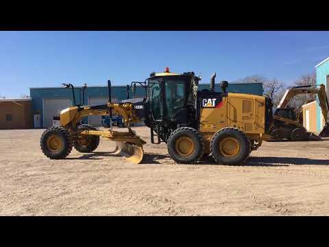CATERPILLAR NIVELEUSES 140M2 equipment video P5xr4hvwhGE