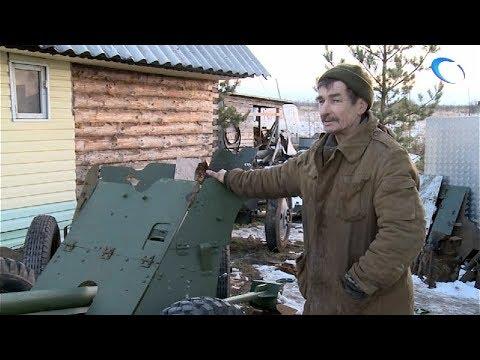 Известный новгородский поисковик Александр Орлов восстанавливает военный памятник из Сольцов