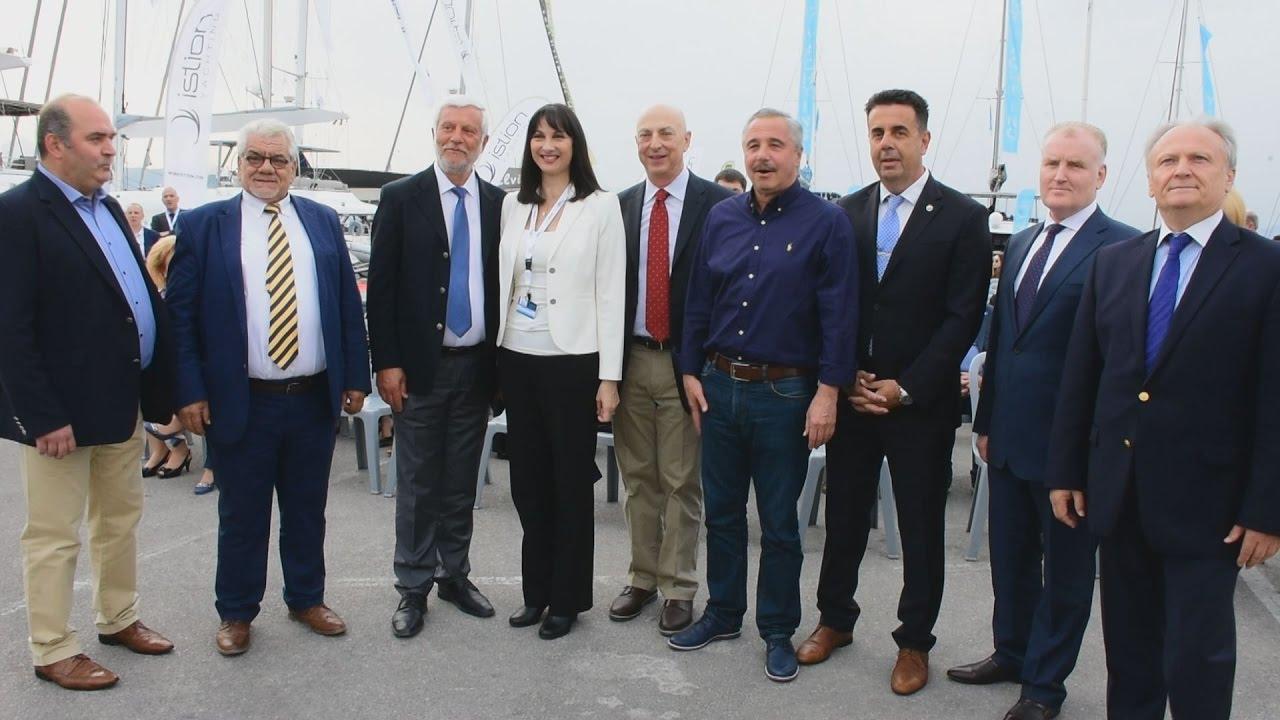 Η Ε.Κουντουρά εγκαινίασε το 4ο Mediterranean Yacht Show στο Ναύπλιο