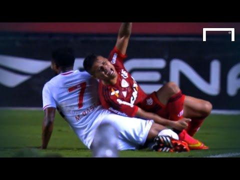 That's got to hurt – shocking challenge brings instant red card