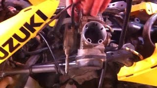 6. Suzuki ltz400 Carburetor removal. How to take off carburetor on Suzuki LTZ 400