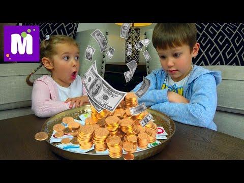 Челлендж ЛОТЕРЕЯ Шопинг на все деньги Зачем Максу микрофон Lоттеrу Кid's СНАLLЕNGЕ Видео для детей - DomaVideo.Ru