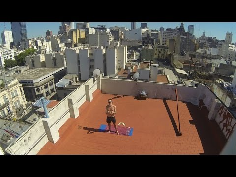 Bikram Yoga en la terraza