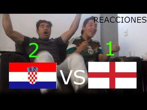 REACCIONES Croacia vs Inglaterra Todos los Goles