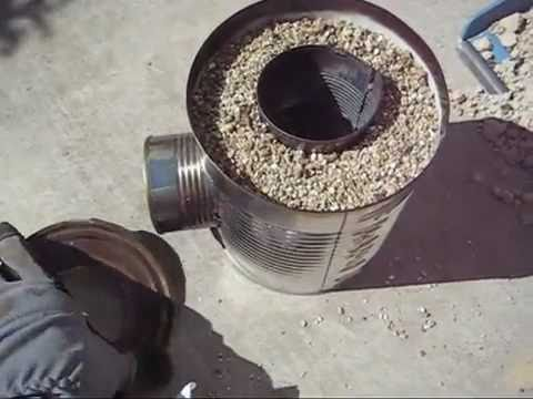 Build a tin can rocket stove step by step permaculture for Tin can rocket stove