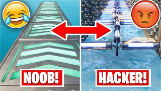 I almost QUIT this NOOB to HACKER Deathrun... *300 Deaths* (Fortnite Creative)