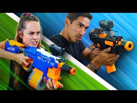 NERF Modded Gun Showdown!