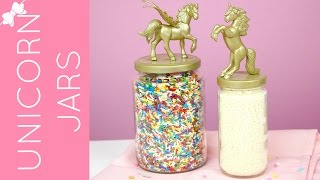 🎀INSTRUCTIONS: www.lindsayannbakes.com🎀SUBSCRIBE FOR ALL-NEW VIDEOS: http://bit.ly/LindsayAnnBakesYouTube***Big Unicorns: http://amzn.to/2mnIAAS***Small Unicorns: http://amzn.to/2mEife2 ♡ Whimsical DIY gold and pink unicorn storage containers, made from recycled food jars! I put sprinkles in my jars, but you can use these for any storage jar you need, from snacks in the kitchen, to cotton balls in the bathroom, to crayons in a kid's room. Any color you want to fit any occasion. I did both gold and pink and can't decide which I like better!♡Have a video request that you would like to see? Let me know! Connect with me @LindsayAnnBakes to say hi & tag YOUR creations with #LindsayAnnBakes 🎀 FACEBOOK - lets be friends!http://www.facebook.com/LindsayAnnBakes🎀 INSTAGRAM - more behind the scenes!http://instagram.com/LindsayAnnBakes🎀 TWITTER - come tweet with me!http://twitter.com/LindsayAnnBakes🎀 PINTEREST - sweet inspiration!http://pinterest.com/LindsayAnnBakes🎀 BLOG - check out more of my recipes!http://www.LindsayAnnBakes.com🎀 FOLLOW ALONG - subscribe to get recipes in your email!http://bit.ly/LindsayAnnBakesEmailRecipes🎀 EMAIL - drop me a line!LindsayAnn@LindsayAnnBakes.com