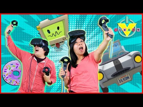 Job Simulator Car Mechanic VR Let's Play VIRTUAL REALITY With Ryan's Mommy Vs. Daddy