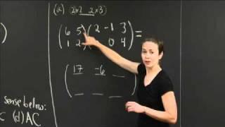 Matrix Multiplication Practice | MIT 18.02SC Multivariable Calculus, Fall 2010