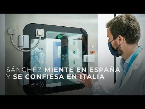 Sánchez miente en España y se confiesa en Italia
