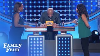 Take the Feud sudden death challenge! Did YOU get the #1 answer? SUBSCRIBE: http://bit.ly/FamilyFeudSub Visit our NEW STORE: manicmerch.com/familyfeud PLAY t...