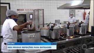 SESI produz marmitas para entidades