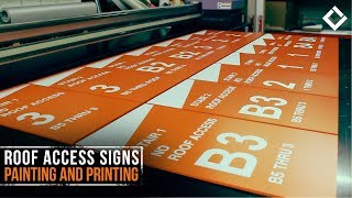 Roof Access Signs Painting and Printing