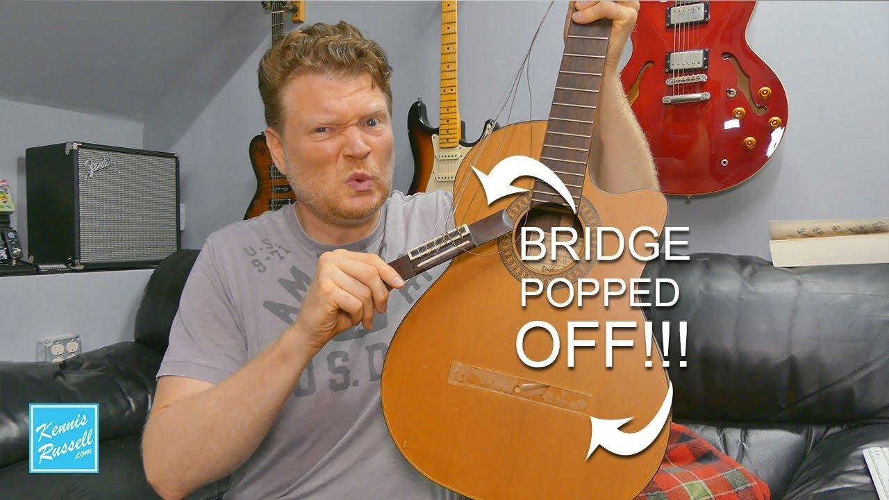 Repair an Acoustic Guitar Bridge… The Fast Way