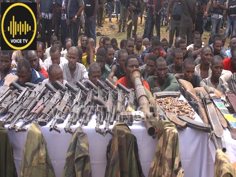 Police Parade Kaduna Highway Kidnapers With Rocket Lancer