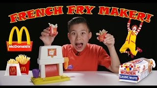 McDonald's FRENCH FRY MAKER! Making French Fries with Chef Evan in 4K!