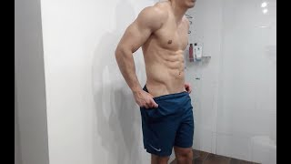 Ripped Colombian 8 Pack Abs Flexing Big Pumped Muscles Skype:Latinbrah