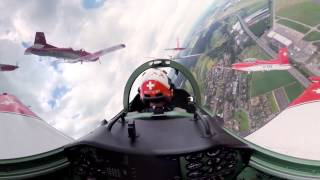 SUBSCRIBE: http://bit.ly/BlickTube ✈ WATCH THE 360 Experience: http://bit.ly/YT_PC7 360° movie from the cockpit of the Swiss ...